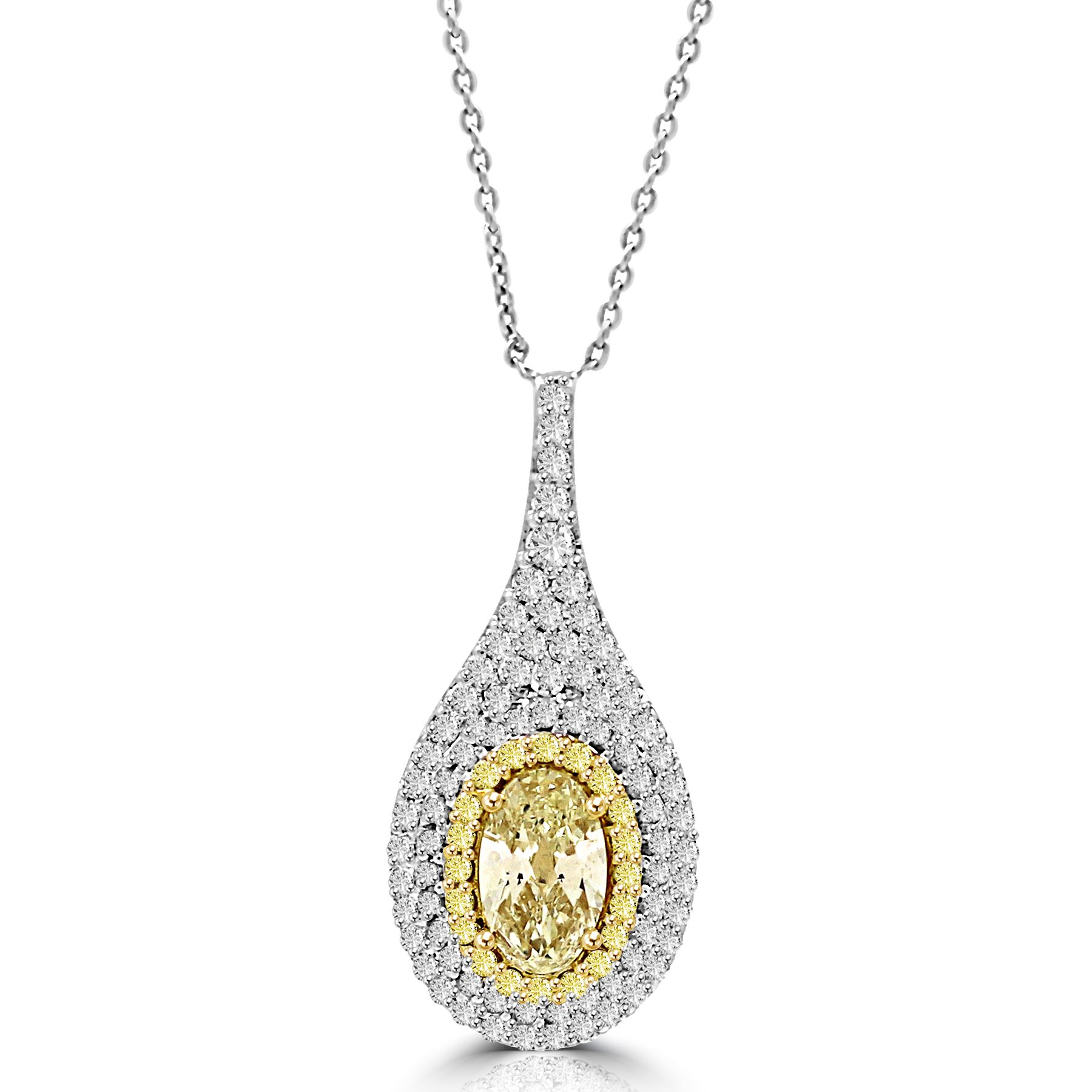 Colorstar Fancy Yellow Diamond Pendant