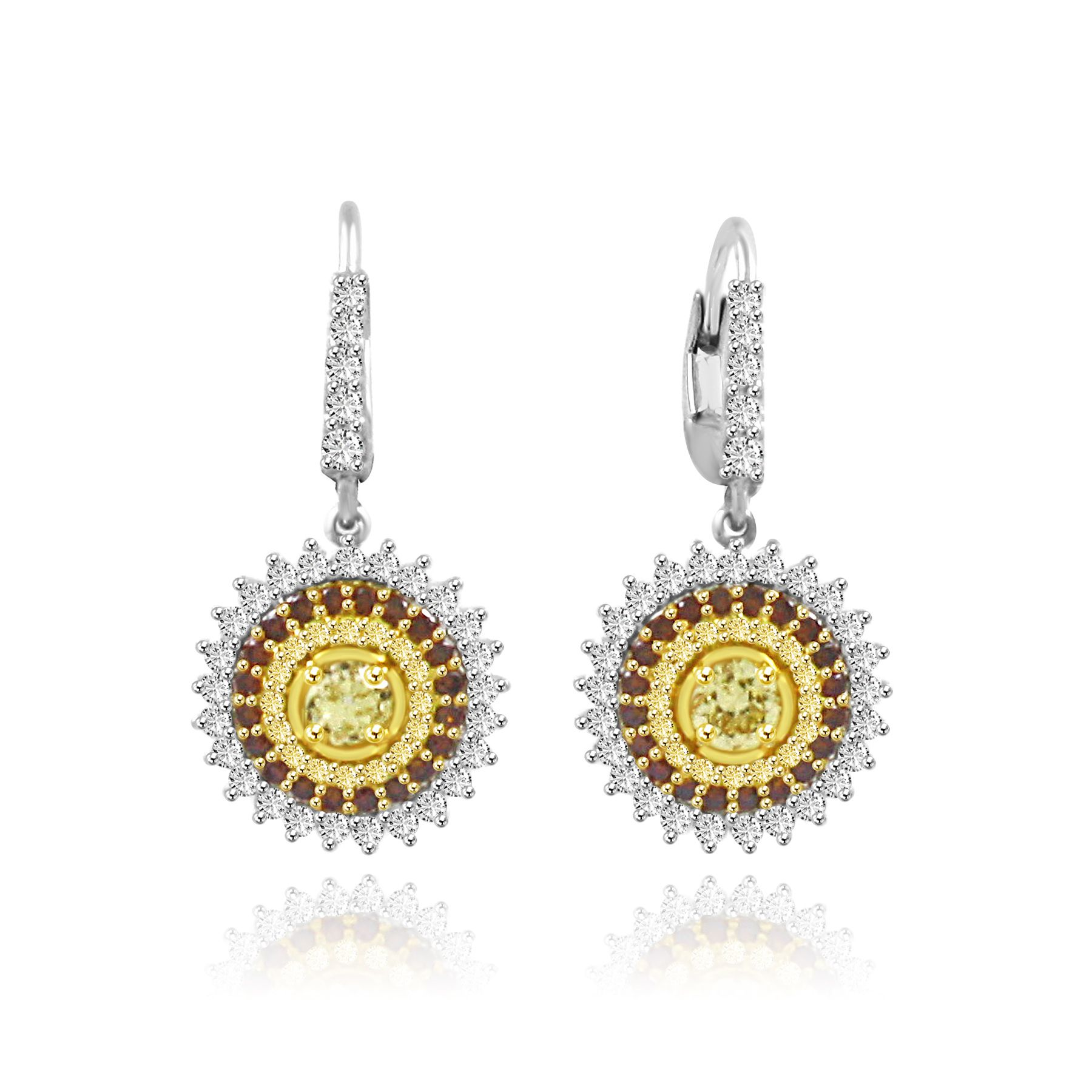 Colorstar Fancy color Diamond Earrings Image