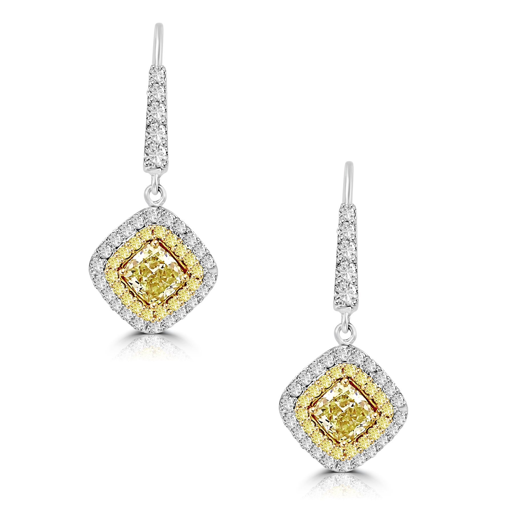 Natural Fancy Color Diamond Earrings Image