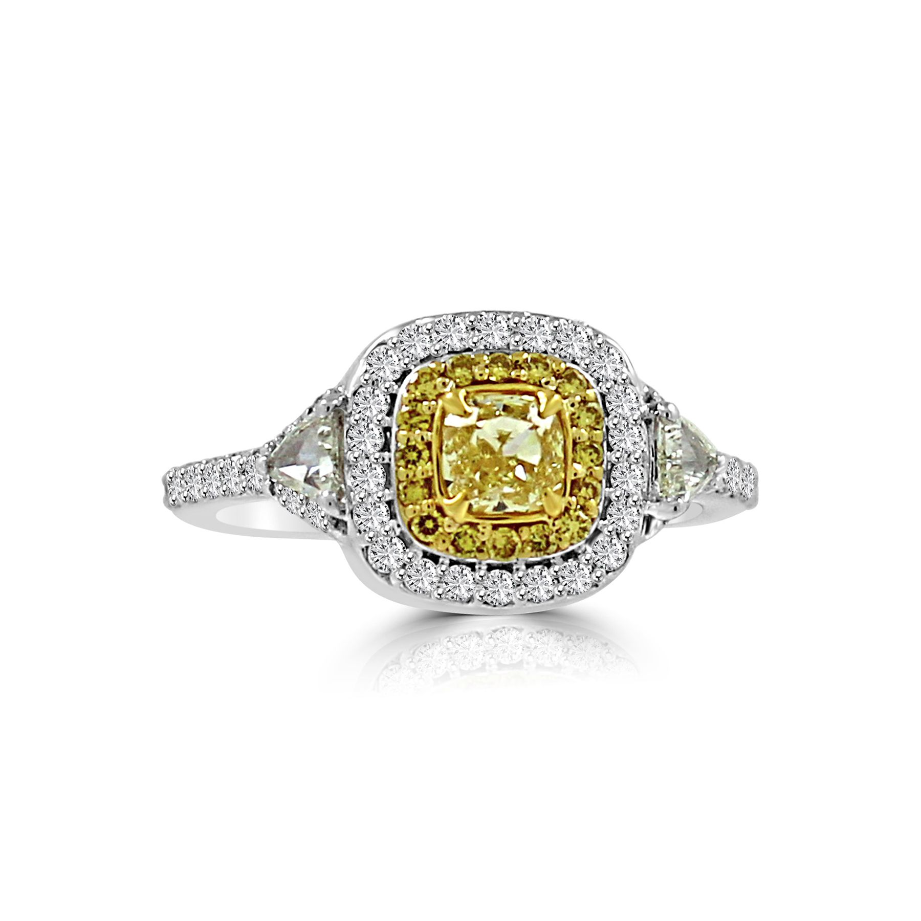 Natural Fancy Yellow Color Diamond Ring