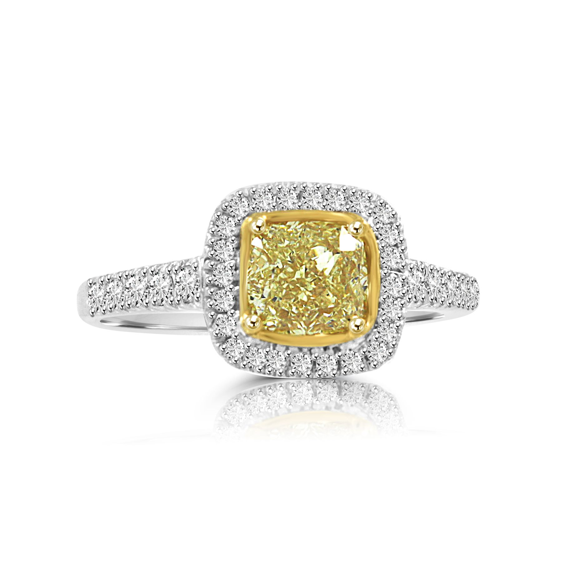 Colorstar Fancy Yellow Diamond Ring
